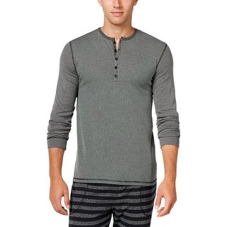 Kenneth Cole Reaction Mens Sleep Shirt Ribbed Henley