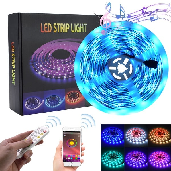 LED Strip Lights RGB Strips Waterproof Music Sync Color Changing(1 or 2 Pack). Opens flyout.