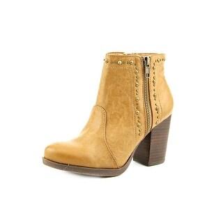 Mia Simone Women Round Toe Synthetic Tan Ankle Boot