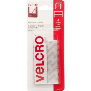 "Clear - Velcro(R) Brand Thin Fasteners Tape 3/4""X3-1/2"" 4/Pkg"