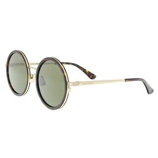 Saint Laurent SL136 COMBI-004 Havana/Gold Round Sunglasses - 52-22-145