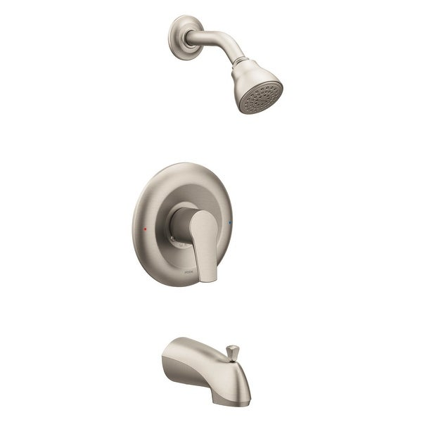 Moen T2803 Posi-Temp Pressure Balanced Tub and Shower Trim with 2.5 GPM Shower Head and Tub Spout from the Method Collection