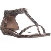 Kenneth Cole REACTION Lost You T-Strap Sandals, Grey - 8.5 us