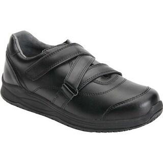 Drew Women's Pepper Adjustable Strap Sneaker Black Leather