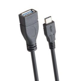 IOCrest Black 1-Meter USB 3.1 Type-C Male to USB 3.0 A Plug Female Data Sync and Charge Cable