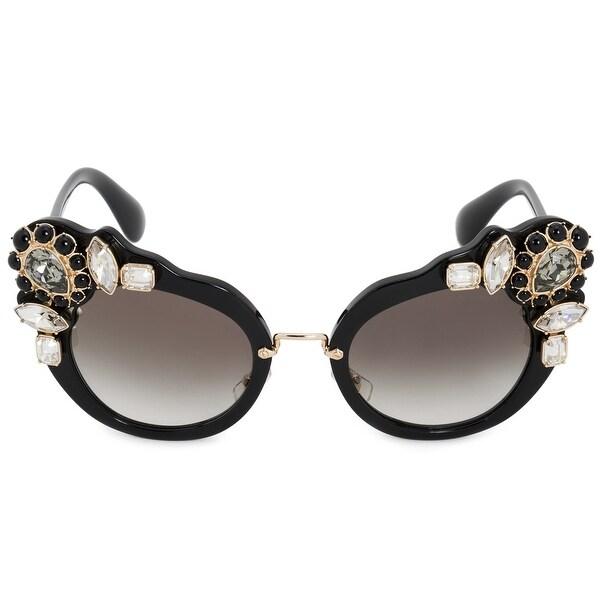8c140c8481 Shop Miu Miu Butterfly Sunglasses SMU04SS 1AB0A7 52 - On Sale - Free ...