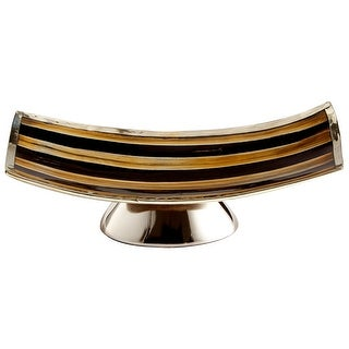 """Cyan Design 09838  Vector 9-1/2"""" Wide Aluminum, Horn Tray - Brown Blend"""