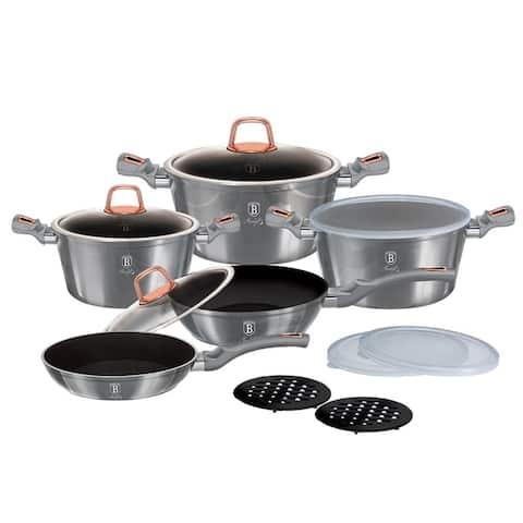 Berlinger Haus 13-Piece Kitchen Cookware Set, Moonlight Collection