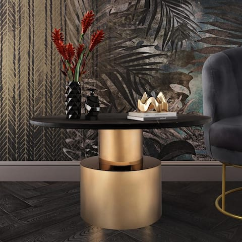 Terzo Black Marble Cocktail Table