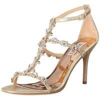 BADGLEY MISCHKA Womens Gascade II Leather Open Toe Bridal T-Strap Sandals