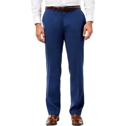 Louis Raphael Mens Double Pleatedq Dress Pants Slacks, Blue, 32W x 32L