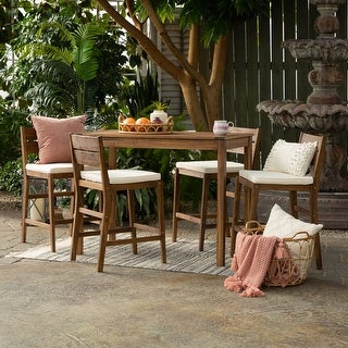 Link to 5-Piece Acacia Counter Height Dining Set by Havenside Home Similar Items in Patio Furniture