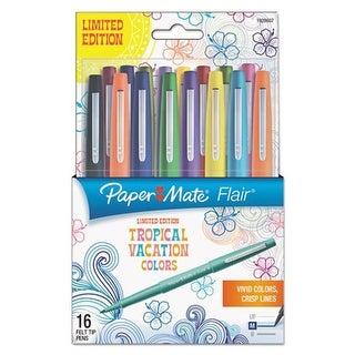 Flair Felt Tip Marker Pen - Assorted Tropical Ink, Medium