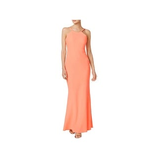 ba01482590f9 Shop Calvin Klein Womens Evening Dress Halter Sleeveless - Free Shipping On  Orders Over $45 - Overstock - 20990559