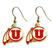 Utah Utes Dangle Logo Earring Set NCAA Charm Gift