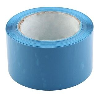 Shipping PVC Box Sealing Adhesive Tape Blue 2.4 x 98.4 Yards(295.3 Ft)