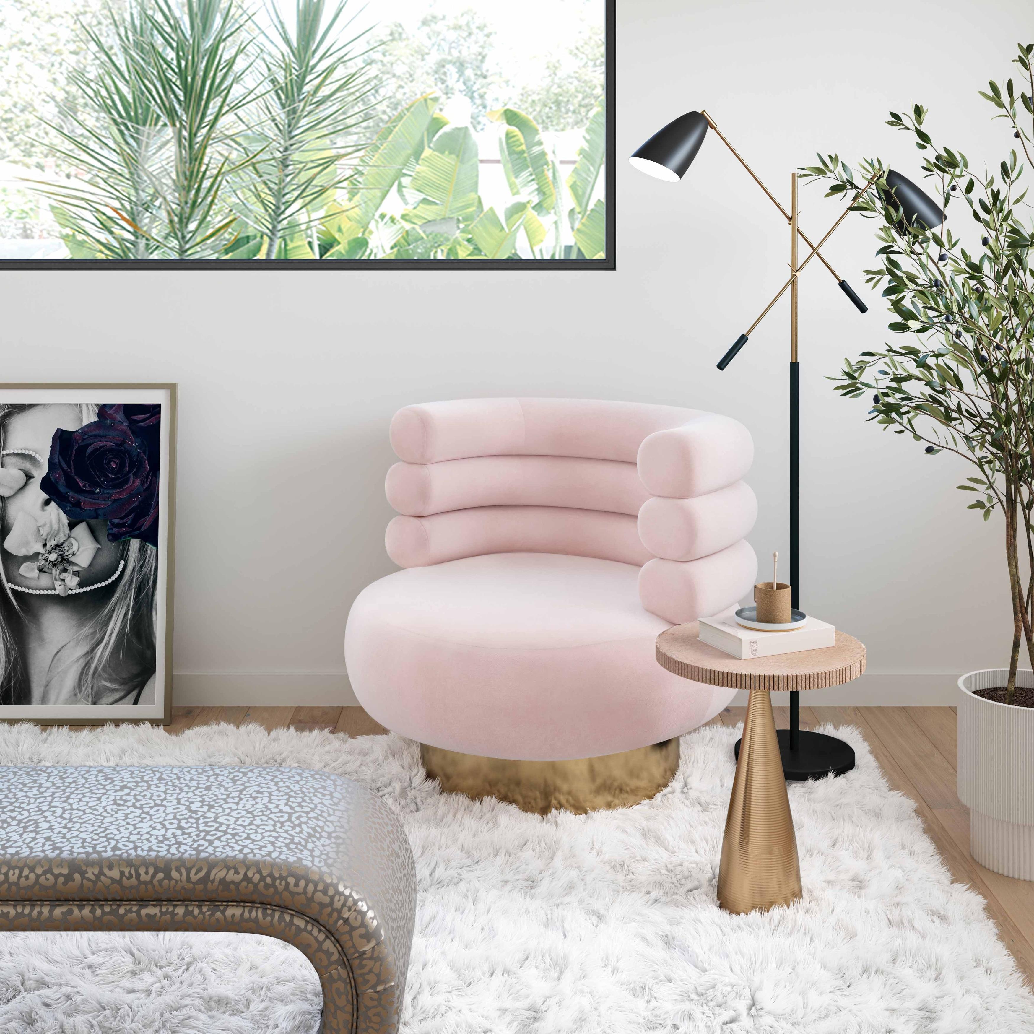 TOV Furniture Naomi Swivel Chair