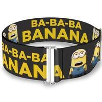 Minions Group Ba Ba Ba Banana Gray Yellow One Size Cinch Waist Belt   ONE SIZE