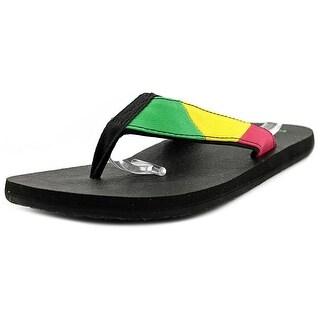 Sanuk Block Party Men Open Toe Synthetic Multi Color Flip Flop Sandal