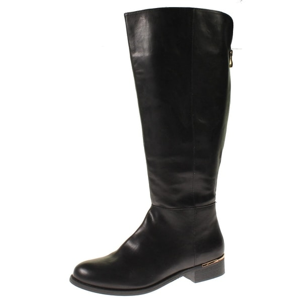 d30f35eb81e Steve Madden Womens Hurry Riding Boots Faux Leather Wide Calf - 10 medium  (b