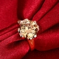 Ruby Clover Rose Gold Inspired Ring - Thumbnail 2