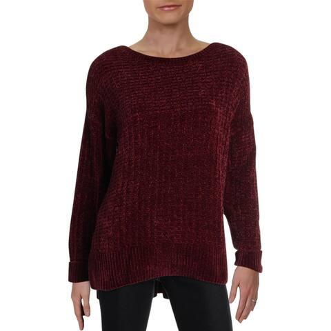 Matty M Womens Pullover Sweater Ribbed Trim Crew Neck - Merlo - L