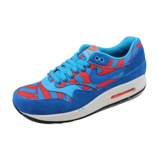 Nike Men's Air Max 1 GPX Blue Lagoon/Dark Electric Blue-Bright Crimson 684174-401