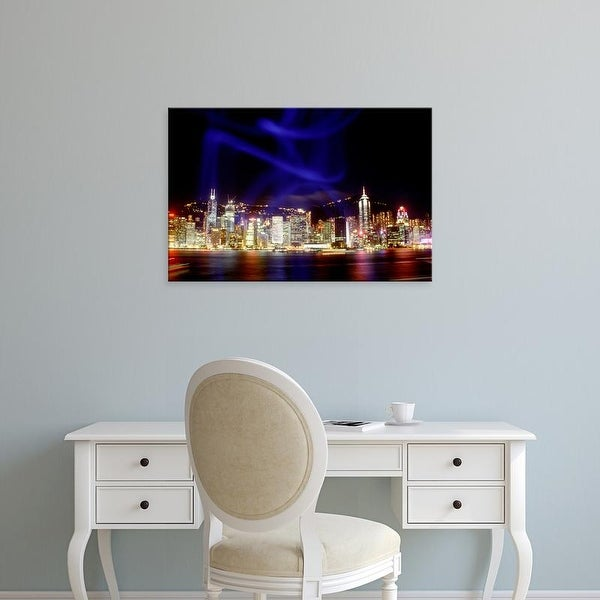 Easy Art Prints Russell Gordonno's 'Hong Kong Skyline' Premium Canvas Art