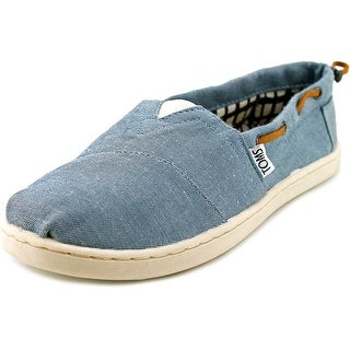 Toms Youth Bimini Youth Round Toe Canvas Blue Sneakers