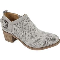 White Mountain Women's Avenue Bootie Gray Suedette