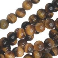 Dakota Stones Gemstone Beads, Tiger Eye, Round 4mm, 8 Inch Strand