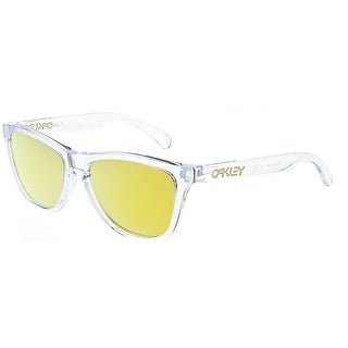 Oakley Men\u0027s Mirrored Frogskin OO9013-A4 Clear Wayfarer Sunglasses - Free  Shipping Today - Overstock - 24957724