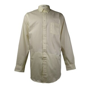 Van Heusen Men's Easy Care Pinpoint Oxford Dress Shirt (Maize, 17.5/37-38) - Maize - 17.5/37-38