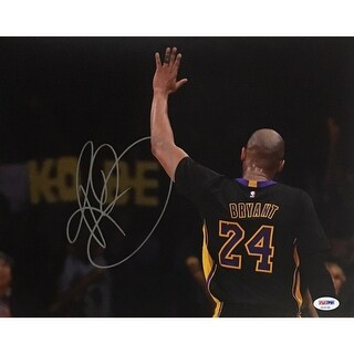 Kobe Bryant Autographed Lakers Signed Basketball 11x14 Photo PSA DNA COA