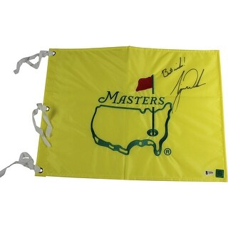 Tiger Woods Augusta National Souvenir Pin Flag Beckett