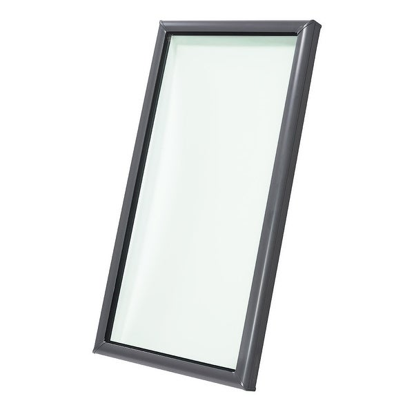 """Velux FCM 2246 0005 27-3/8"""" x 51-3/8"""" Tempered Fixed Non-Vented Curb Mounted No Leak Skylight from the FCM Collection -. Opens flyout."""