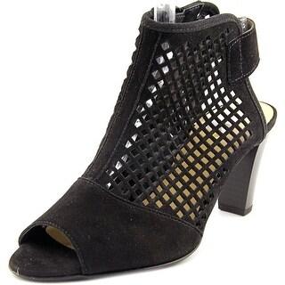 Gabor 41.831 Women Open Toe Suede Black Sandals
