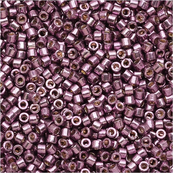 Miyuki Delica Seed Beads 11/0 - Duracoat Galvanized Eggplant DB1850 7.2 Grams