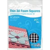 "Black (63) .43""X.47"" (154) .25""X.25"" - Scrapbook Adhesives Thin 3D Foam Squares"