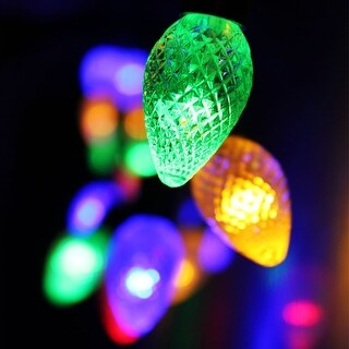 Cone Battery Operated LED Christmas Lights-2 Work Modes RGBY Christmas String Lights-7.3ft Length,20pcs Cones