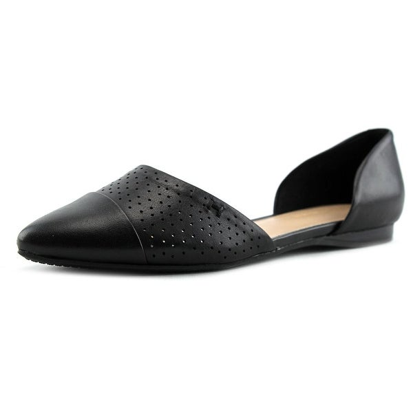 Tommy Hilfiger Neema Women Pointed Toe Leather Black Flats