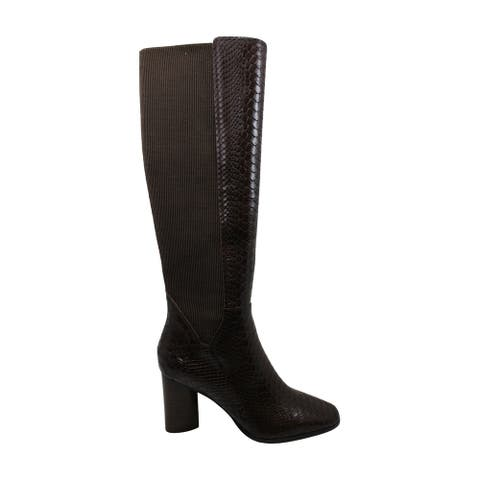 Donald J Pliner Women's Shoes Gell-ZP Square Toe Knee High Fashion Boots