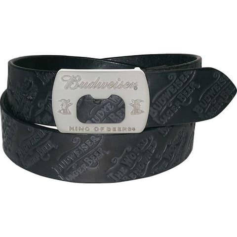 Buxton Men's Budweiser Lager Belt Black