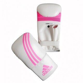 Adidas Box-Fit Open Thumb Boxing Bag Gloves - White/Pink
