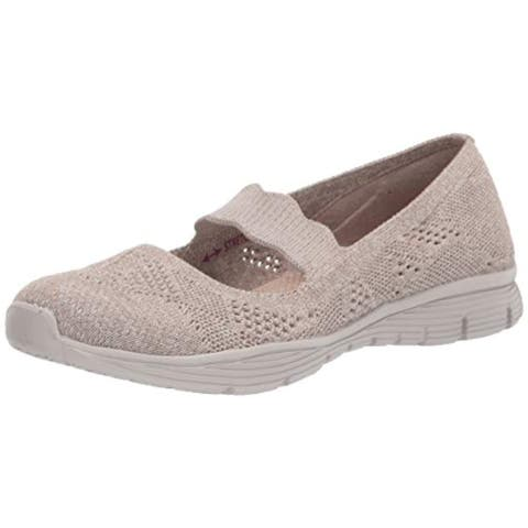 Skechers womens Seager - Pitch Out Mary Jane Flat, Taupe