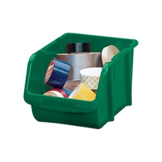 Stack-On BIN-1510 Medium Parts Storage Organizer Bin, Green