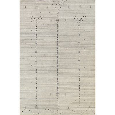 """Tribal Contemporary Gabbeh Oriental Area Rug Hand-knotted Wool Carpet - 5'9"""" x 7'7"""""""
