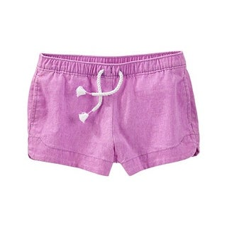 OshKosh B'gosh Neon Linen Sun Shorts- Purple -24 Months