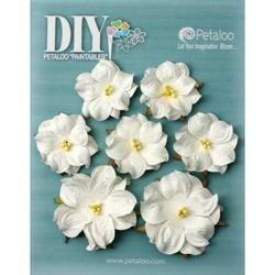 "White - Diy Paintables Mulberry Wild Roses 1.25"" - 1.75"" 7/Pkg"