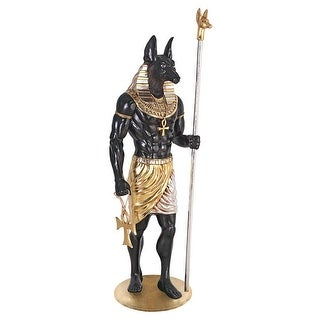 Design Toscano The Egyptian Grand Ruler Collection: Life-Size Anubis Statue